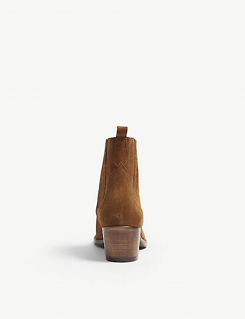 MAJE Farwest suede cowboy boots