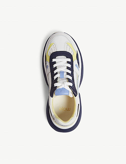MAJE Faster leather trainers