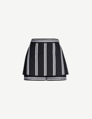 Maje Shorts IKILA STRIPED TWILL SHORTS