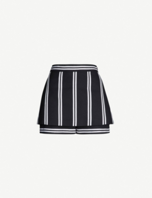 MAJE Ikila striped twill shorts