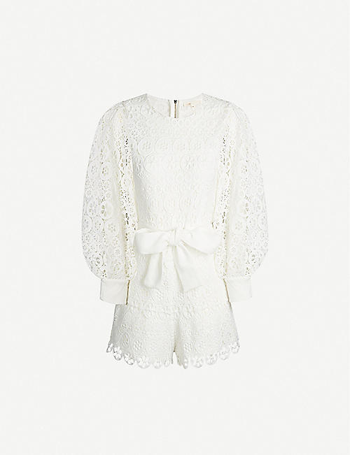 MAJE Guipure lace playsuit