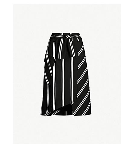 Maje Striped Woven Skirt