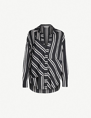 MAJE Larencia woven deconstructed shirt