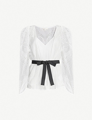MAJE Lizoni lace top