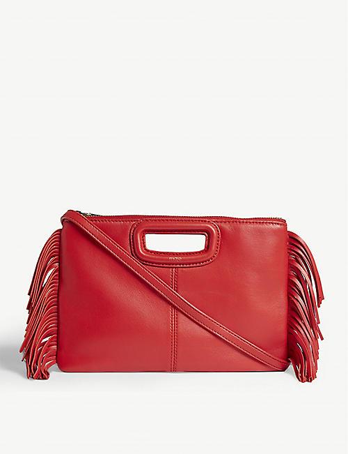 9cec169a76e4 MAJE Leather duet cross-body bag