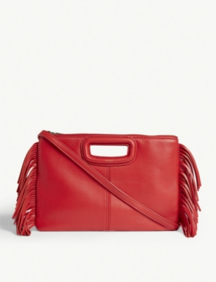 MAJE Leather duet cross-body bag