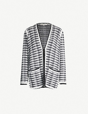 MAJE Tweed-style knitted cardigan