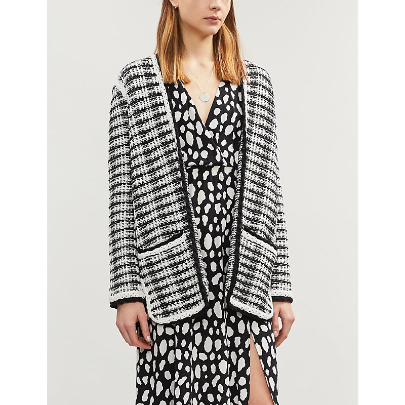 Maje Knits TWEED-STYLE KNITTED CARDIGAN