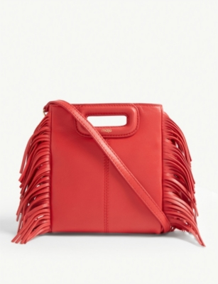 MAJE Mini M leather shoulder bag