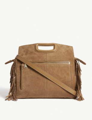 MAJE M Bag fringed suede tote