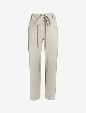 MAJE Pitsy high-waist check trousers