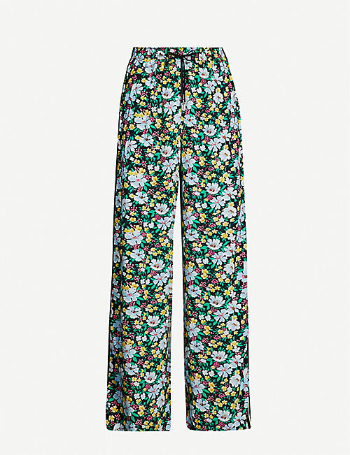 MAJE Prague floral-print high-rise woven trousers