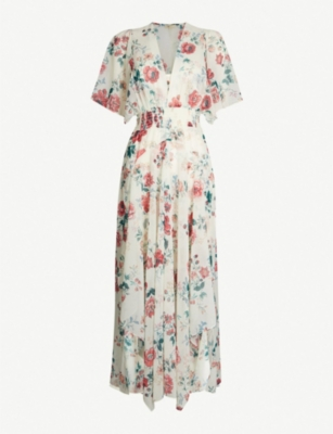 Maje Dresses RACHELLE ROSE-PRINT CREPE DRESS