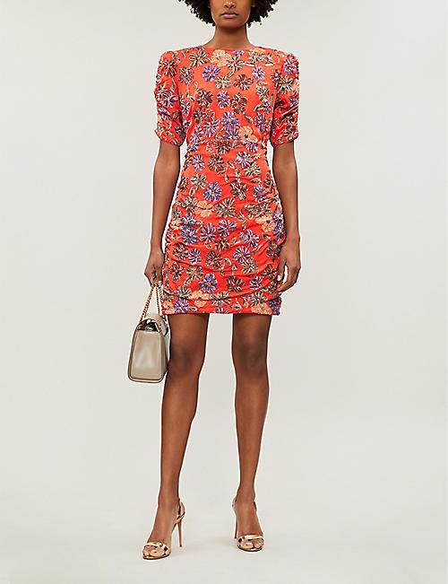 520a8c43c31 MAJE Razul sequin-embellished floral dress