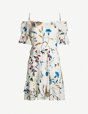 MAJE Rhina floral-print crepe mini dress