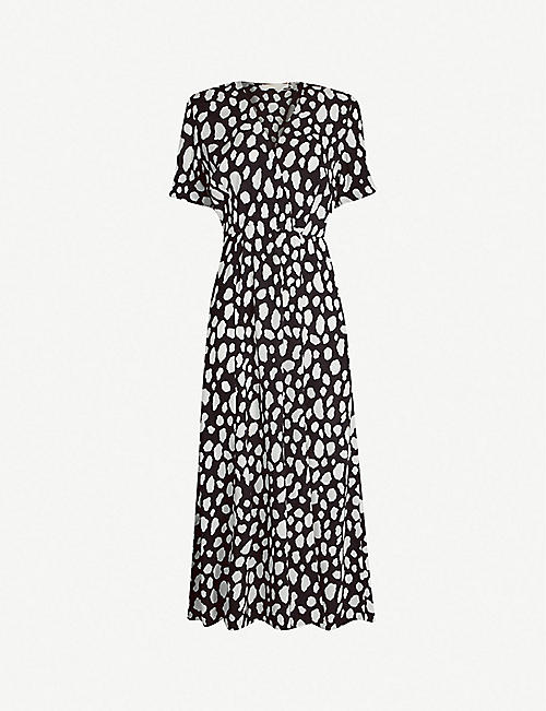e670f1c5d9e6 MAJE Graphic-print split crepe dress