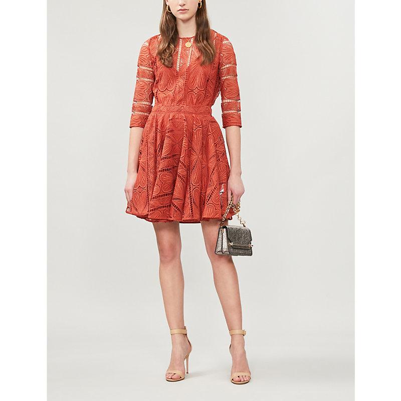 Maje Dresses RIPIZA ROUND-NECK STRETCH-LACE DRESS