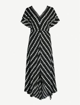 Maje Dresses RITTA DAISY PRINT CREPE DRESS