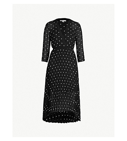 fd186a377b MAJE Rivolio daisy print crepe dress (Black