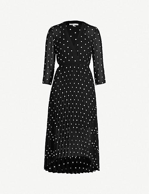 c466281cf0 MAJE Rivolio daisy print crepe dress