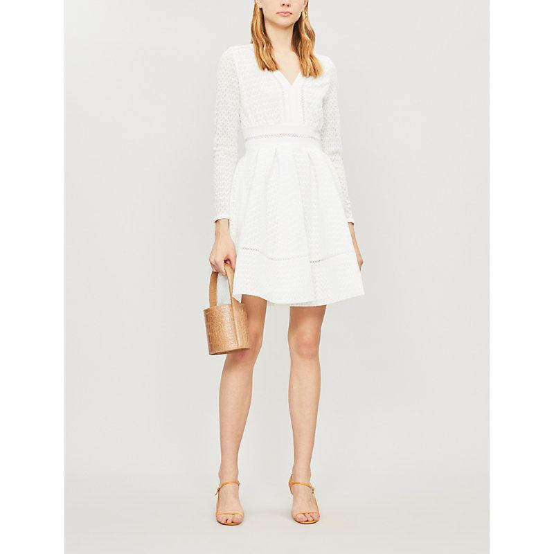 35e6fb112e2f Maje Rossignol X Mini Dress In White | ModeSens