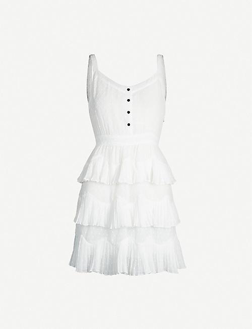 0bc2e54b79 MAJE Plumetis V-neck Xcrepe midi dress