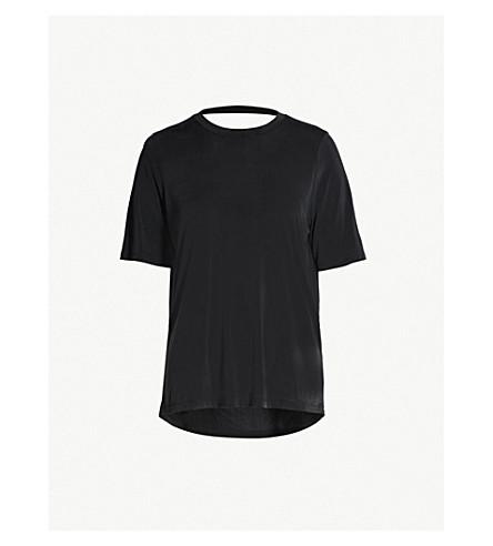 6eca1fa1f MAJE - Tress cupro T-shirt   Selfridges.com