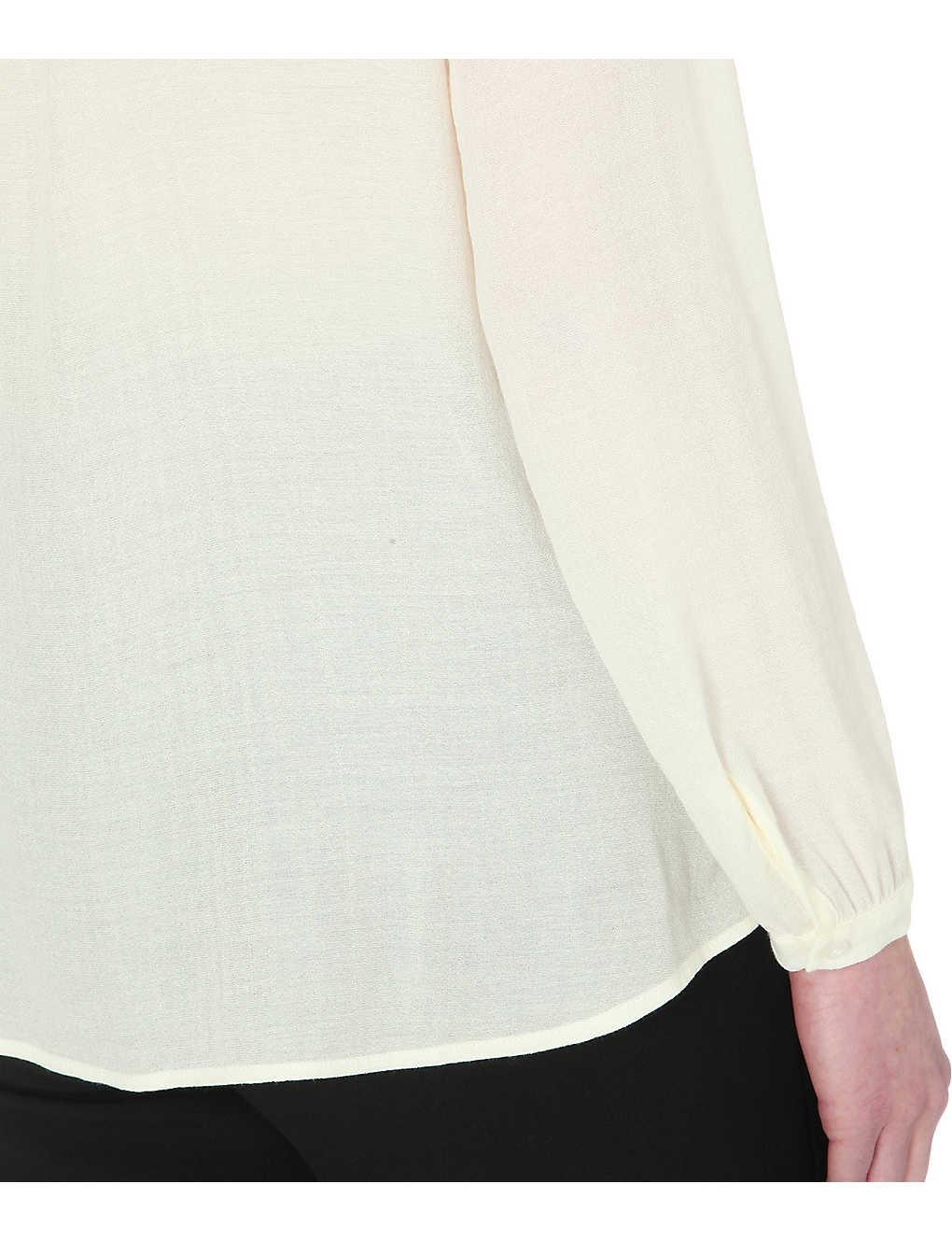 e676a130df MAJE - Coucou crepe shirt | Selfridges.com