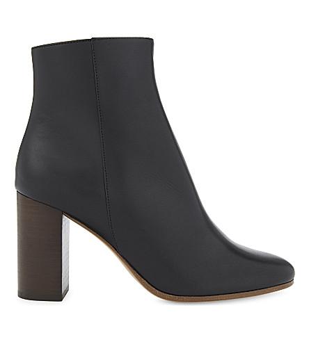 MAJE - Foxy short leather boots  e59311dab