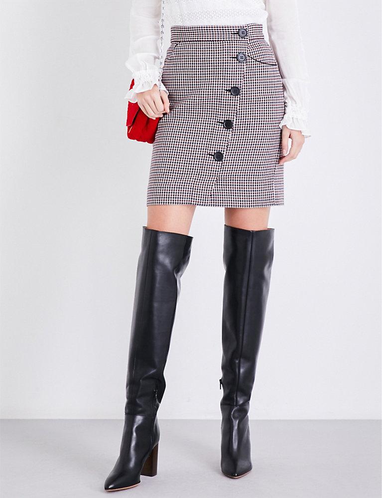 336a9949af MAJE - Jasali houndstooth tweed skirt   Selfridges.com