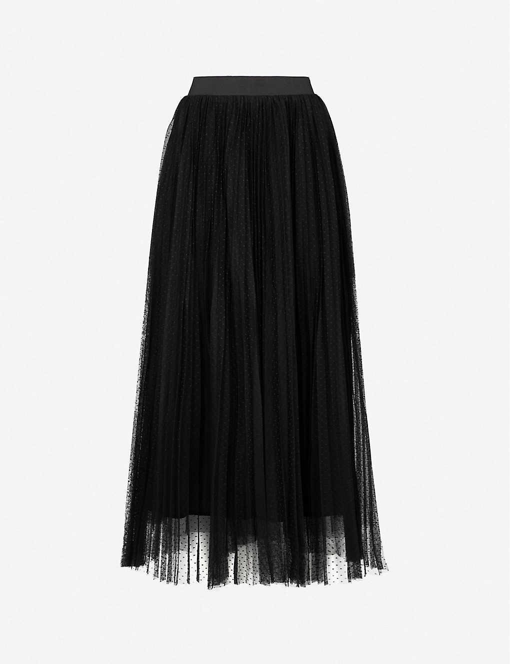 new season official supplier favorable price MAJE - Jesi pleated tulle midi skirt | Selfridges.com