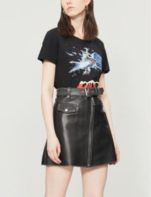 9d024abcc MAJE - Jouki A-line leather skirt | Selfridges.com