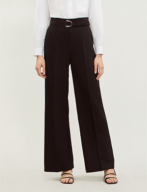 a93d981ecedc MAJE - Panorama wide high-rise jacquard trousers