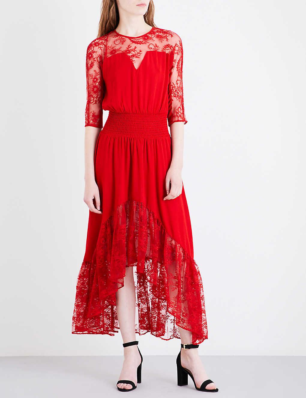 e0e5af6da84 MAJE - Ritema floral-panel chiffon and lace maxi dress | Selfridges.com