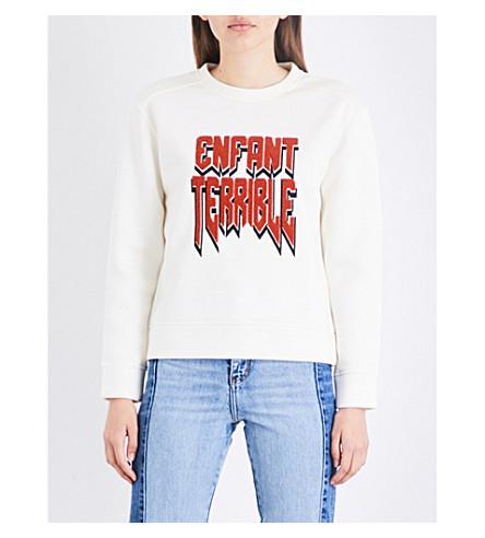 2eafd2a35a MAJE Enfant terrible neoprene sweatshirt (Ecru