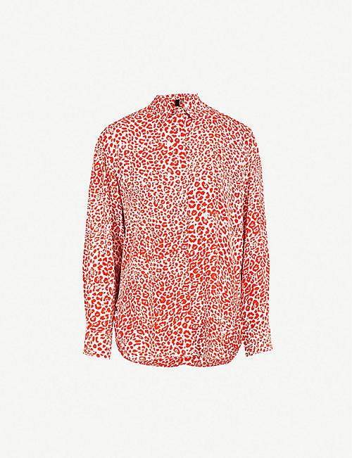 1960562be3e1a MAJE - Capona leopard-print woven shirt