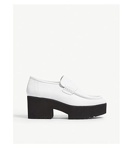2e904543bf1 MAJE Leather ballerina loafers (White