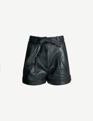 MAJE Ibord leather shorts