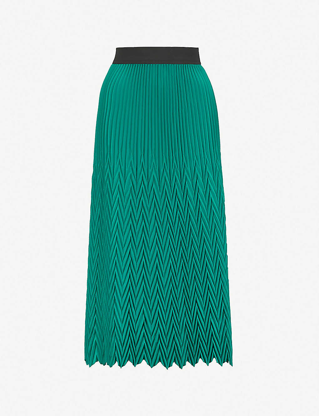 b3e467a7ac MAJE - Herringbone pleated maxi skirt | Selfridges.com