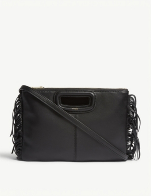 MAJE Lea duo leather shoulder bag