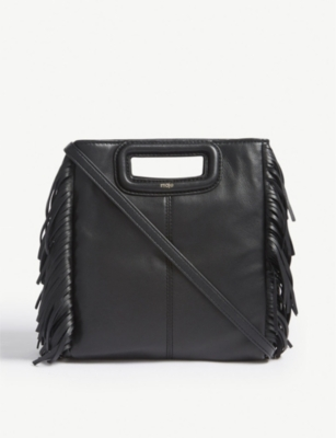 MAJE M large leather cross-body bag