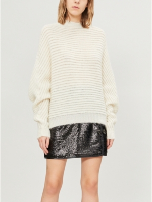 Maje Tops MOUSSE HIGH-NECK KNITTED JUMPER