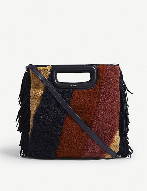 1690966999a2 MAJE Mini M faux fur bag