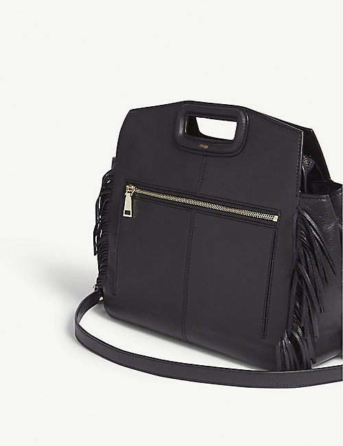 MAJE M bag lambskin leather shoulder bag