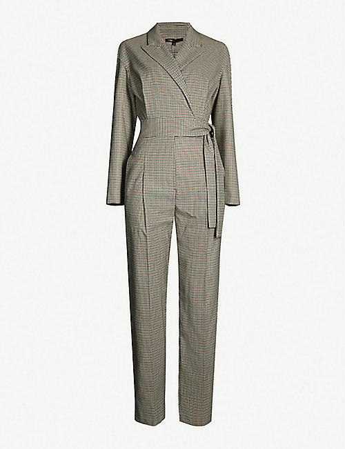 0465996c56d4 MAJE Pindy checked woven jumpsuit