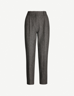 MAJE Tapered wool trousers