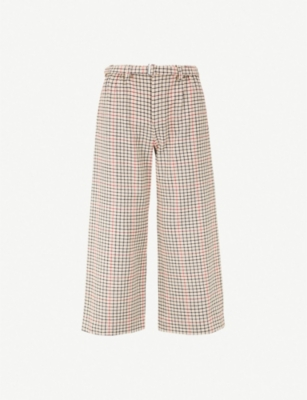 MAJE Checked woven trousers