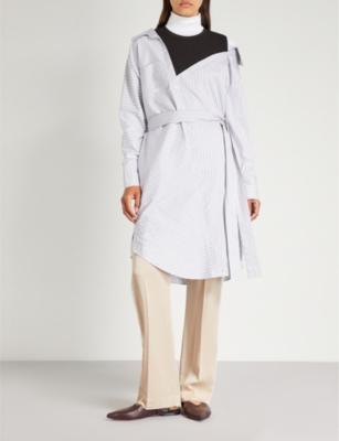 Maje RIAVA DECONSTRUCTED COTTON SHIRT DRESS