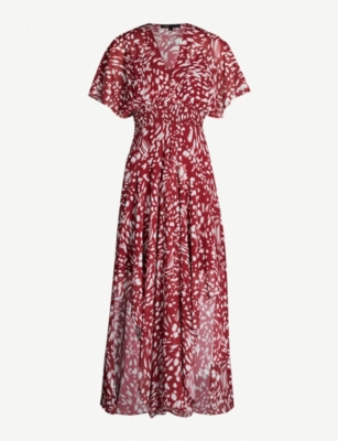 MAJE Richelle printed crepe dress