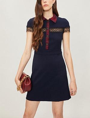 8dc1767aaca8 MAJE Riloid lace-trim crepe dress